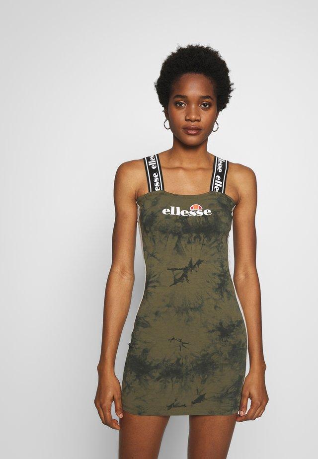 DOMTE - Jersey dress - khaki