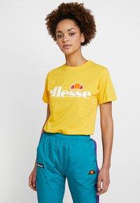 Ellesse - ALBANY - T-shirt print - yellow - 0