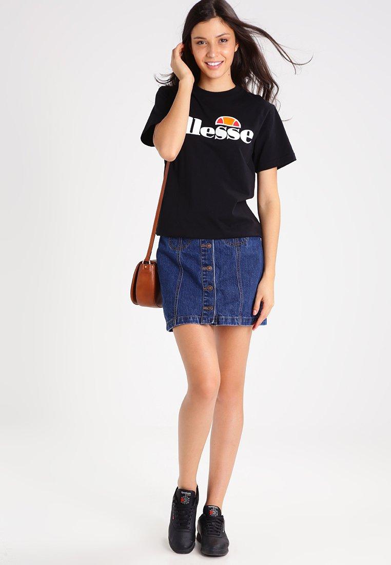 Ellesse ALBANY - T-shirt z nadrukiem - anthracite