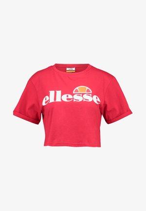 ALBERTA - Print T-shirt - red