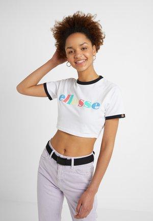 TALIBON - T-shirt z nadrukiem - white