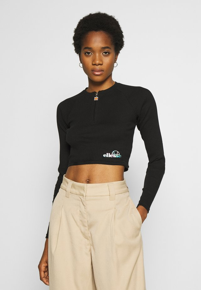 AFENS - Maglietta a manica lunga - black