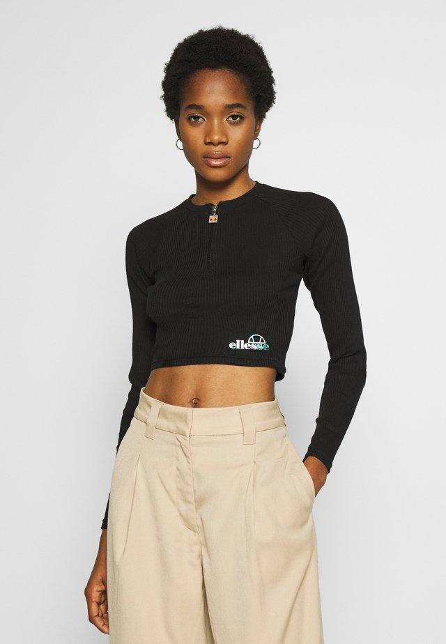 AFENS - Bluzka z długim rękawem - black