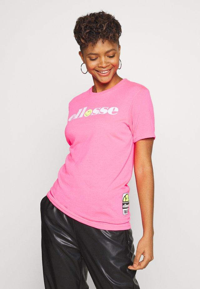 CARNEVALE - Print T-shirt - neon pink