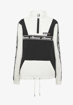 ERNA - Summer jacket - black/off white
