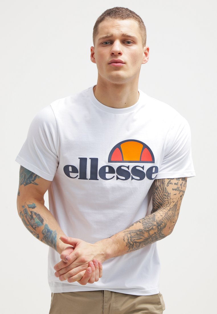 Ellesse - PRADO TEE - Print T-shirt - optic white