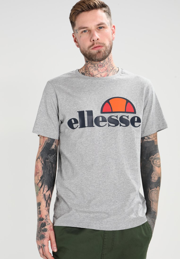 Ellesse - PRADO TEE - Print T-shirt - athletic grey marl