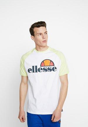 CASSINA - T-shirt imprimé - white/light yellow