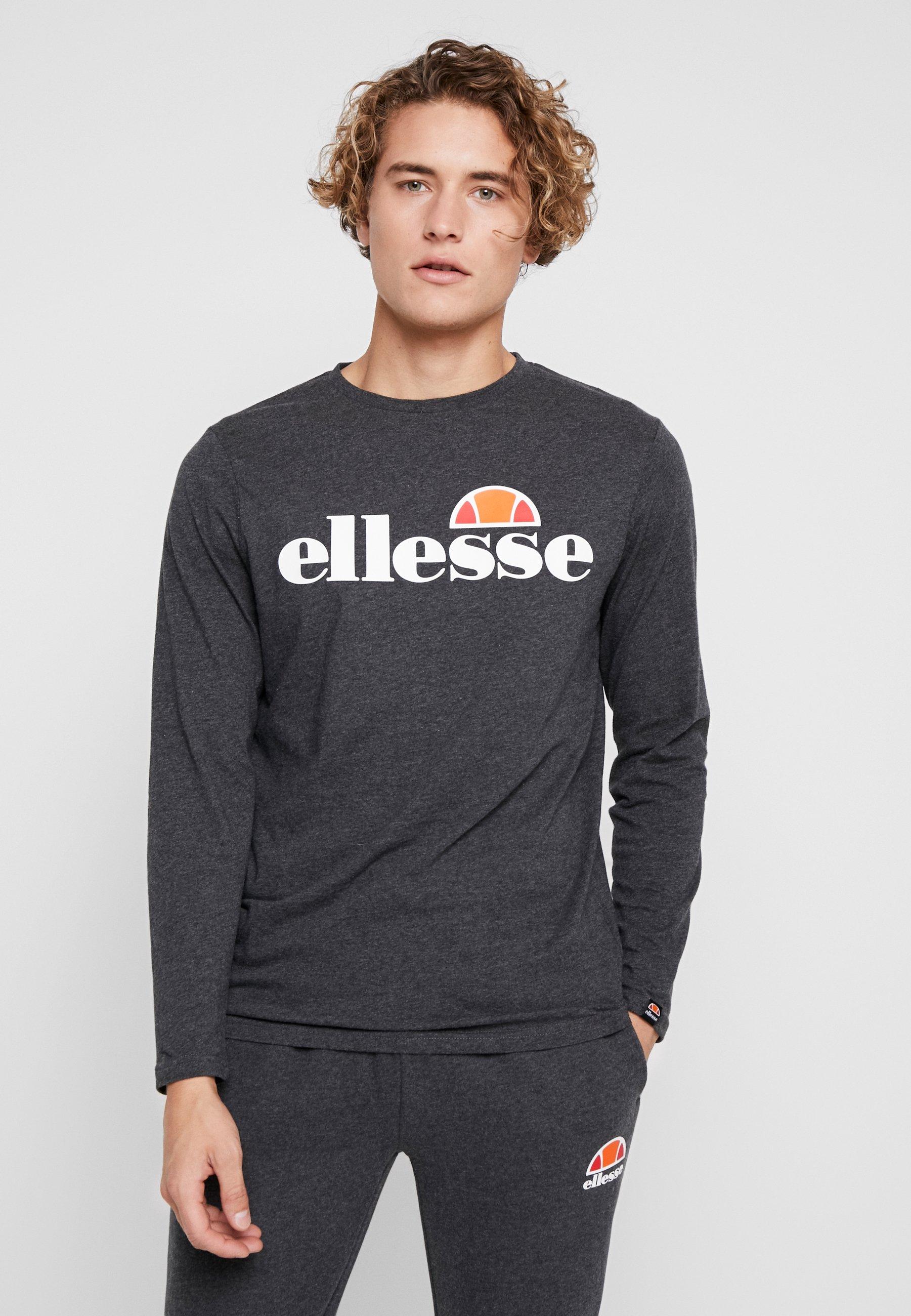 GrazieT Grey À Longues Ellesse shirt Manches Dark iPkOZuwXT