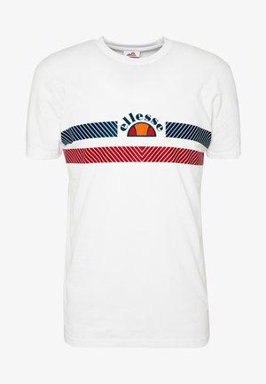LORI - T-shirt z nadrukiem - white