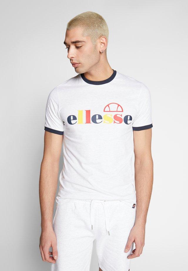 LIMORA - T-shirt print - white marl