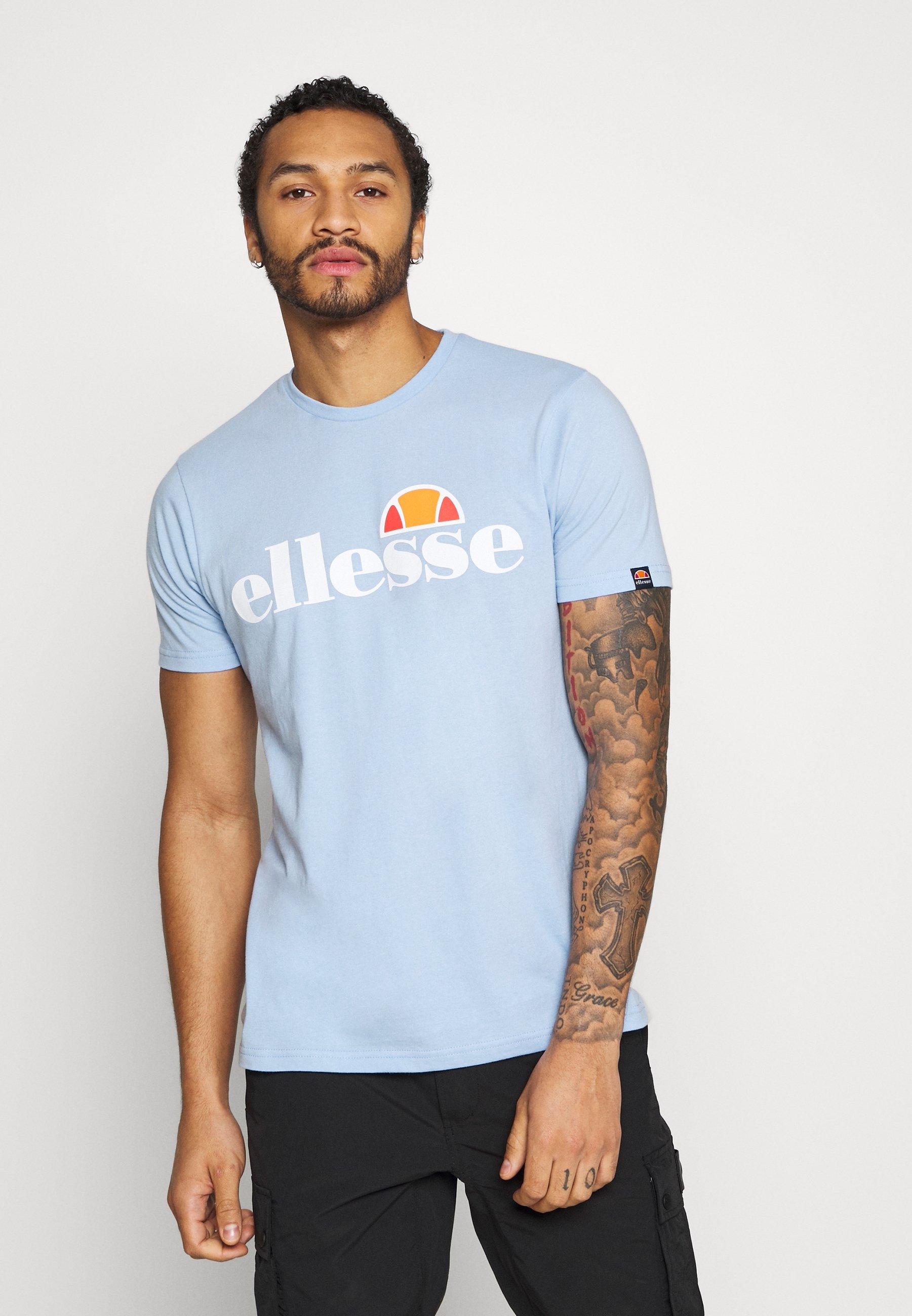 Ellesse PRADO - T-shirt z nadrukiem - light blue