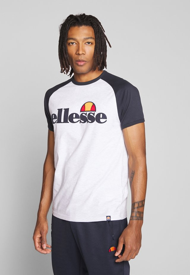 PIAVE - T-shirt med print - white marl