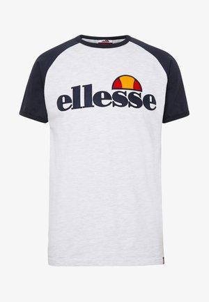 PIAVE - T-shirt print - white marl