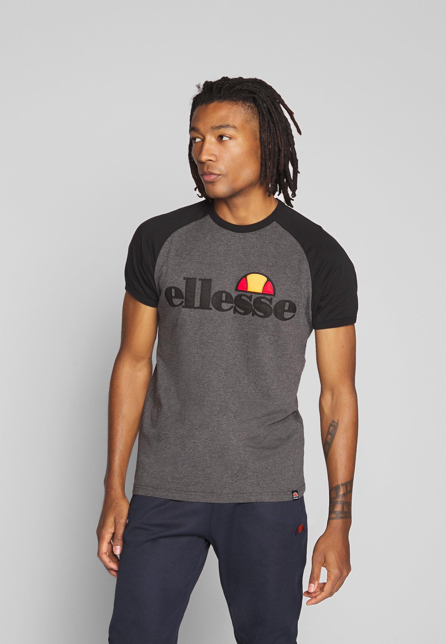 Ellesse PIAVE - T-shirt z nadrukiem - dark grey marl
