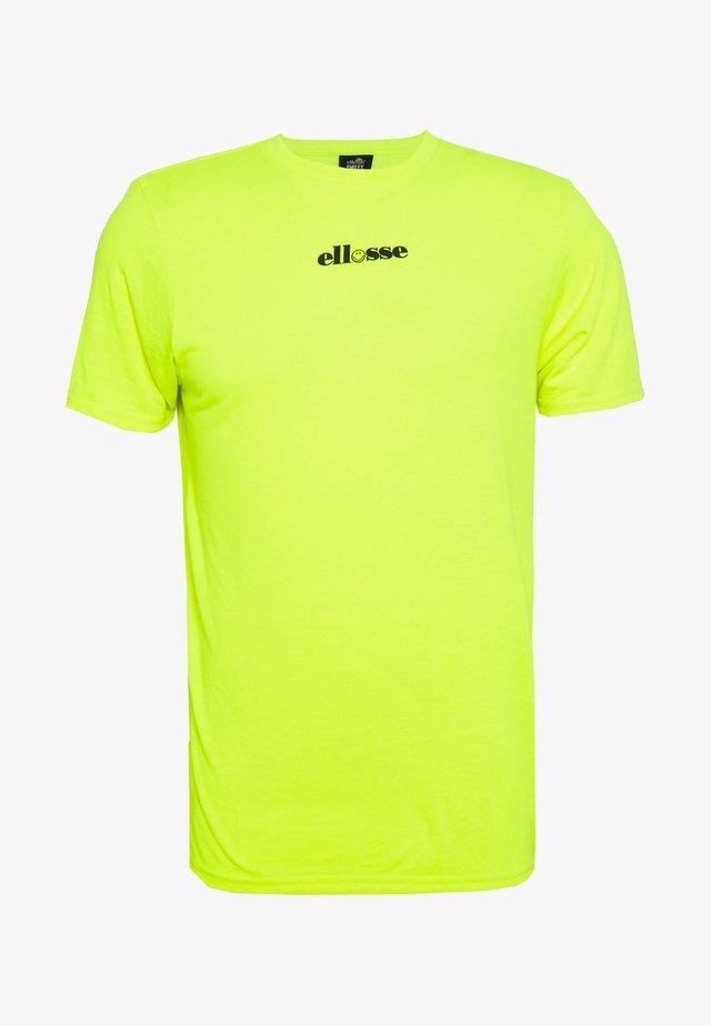 RAPALLO - T-shirt print - neon yellow