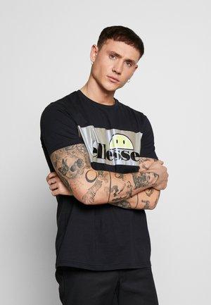 CASTELROTTO - Print T-shirt - black