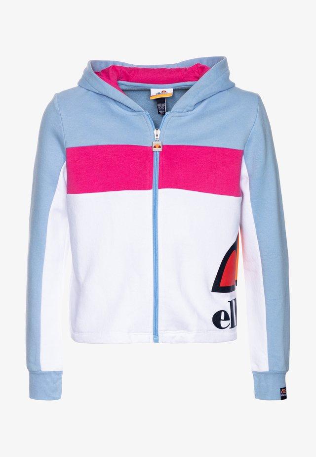 ARBELA - Zip-up hoodie - light blue