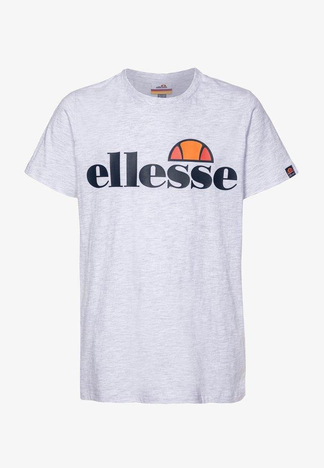 MALIA - T-shirt med print - white marl