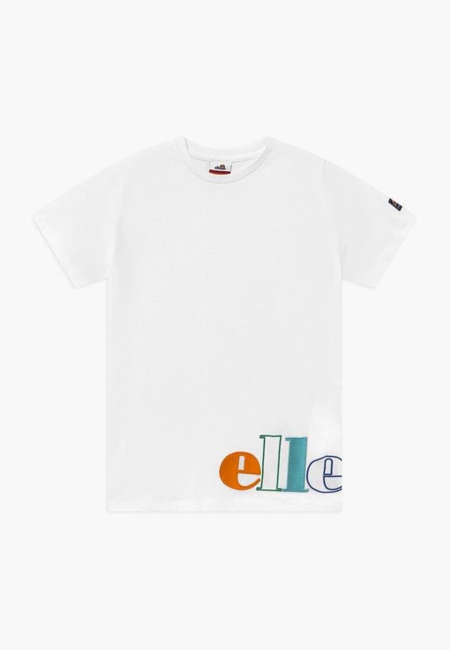 PASSARE - Camiseta estampada - white