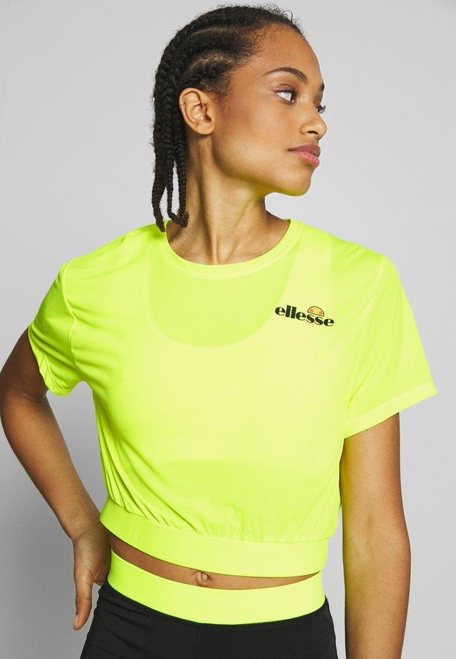 CLUSIO - T-shirts print - neon yellow