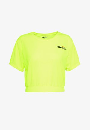 CLUSIO - T-shirts med print - neon yellow