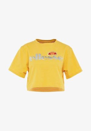 BARLETINO - Print T-shirt - dark yellow