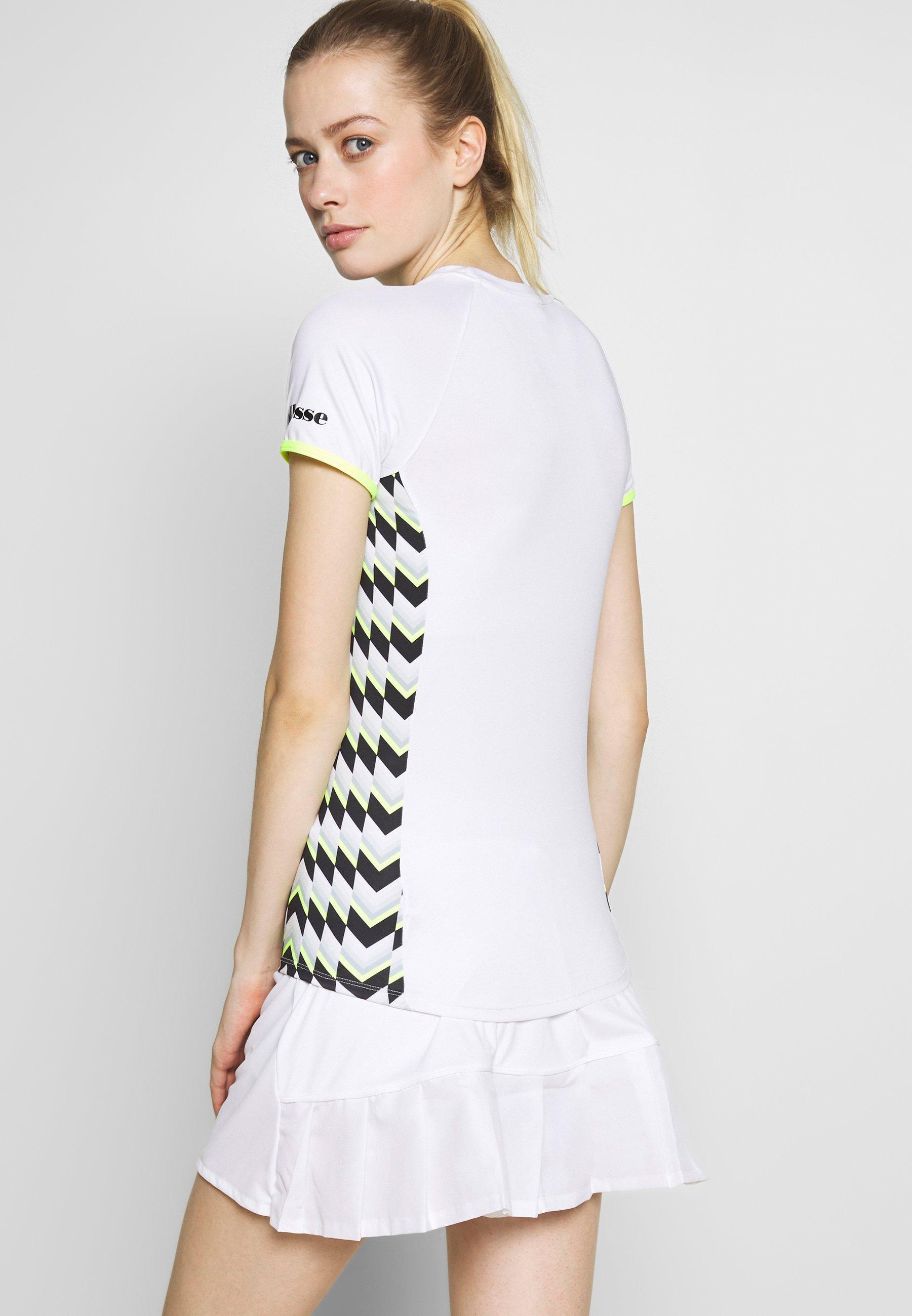Ellesse FERVORE - T-shirt z nadrukiem - white