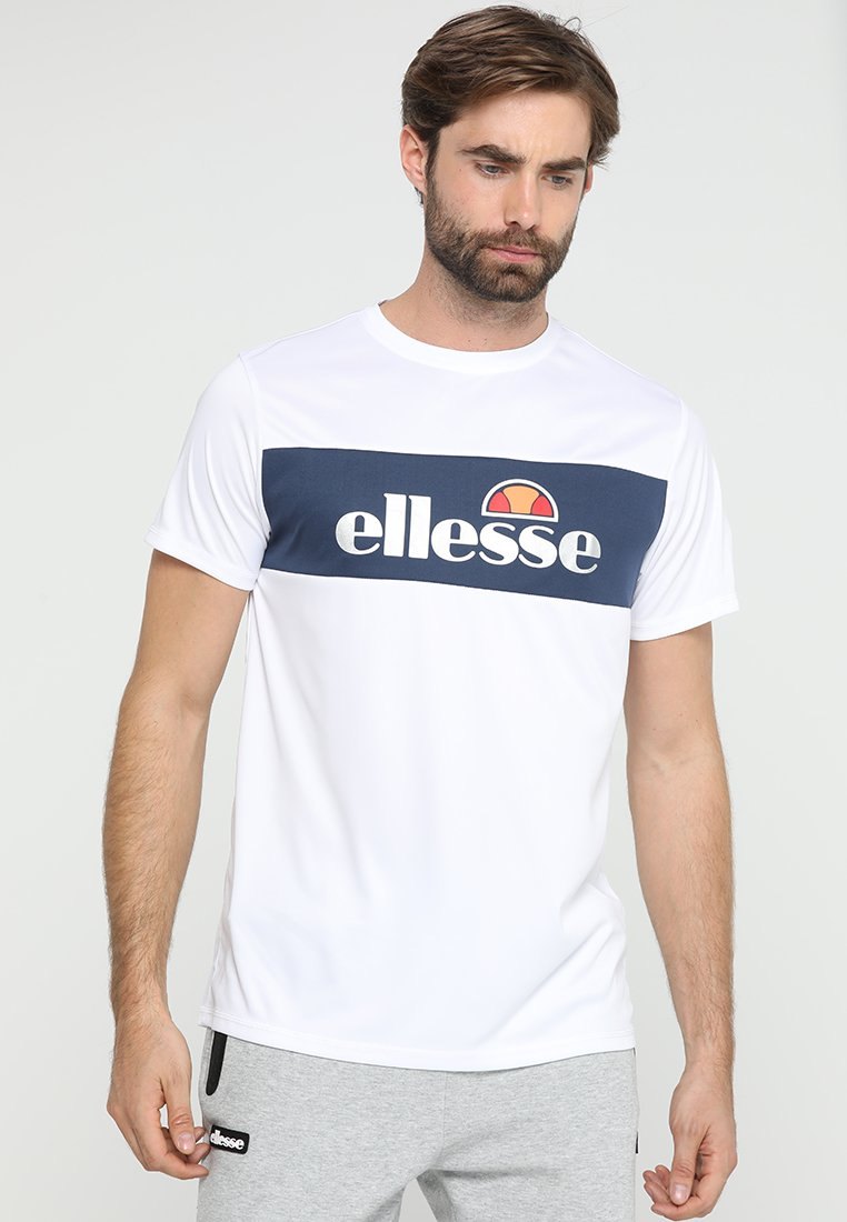 Ellesse - TOMMETI - Printtipaita - optic white/dress blues