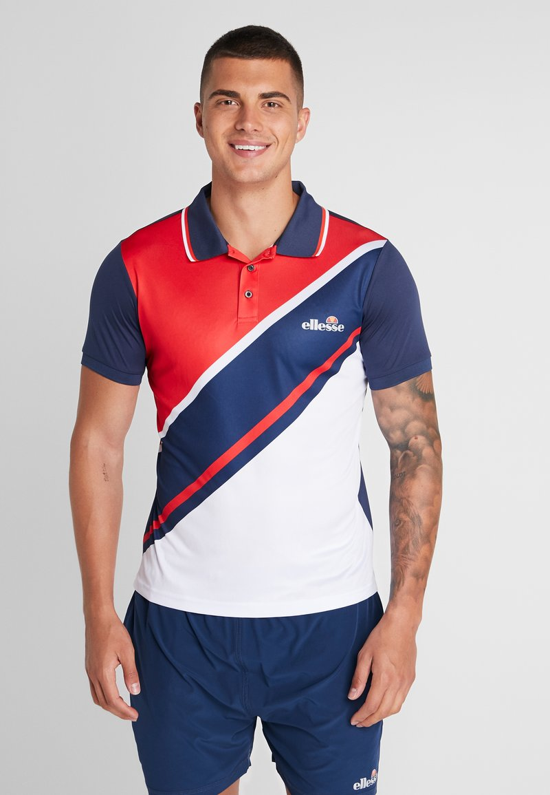 Ellesse - CROCE - Poloshirt - navy/red/white