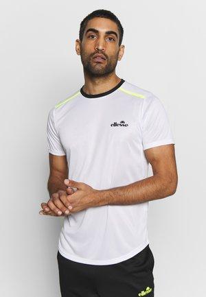 STUARTEO - T-shirt med print - white