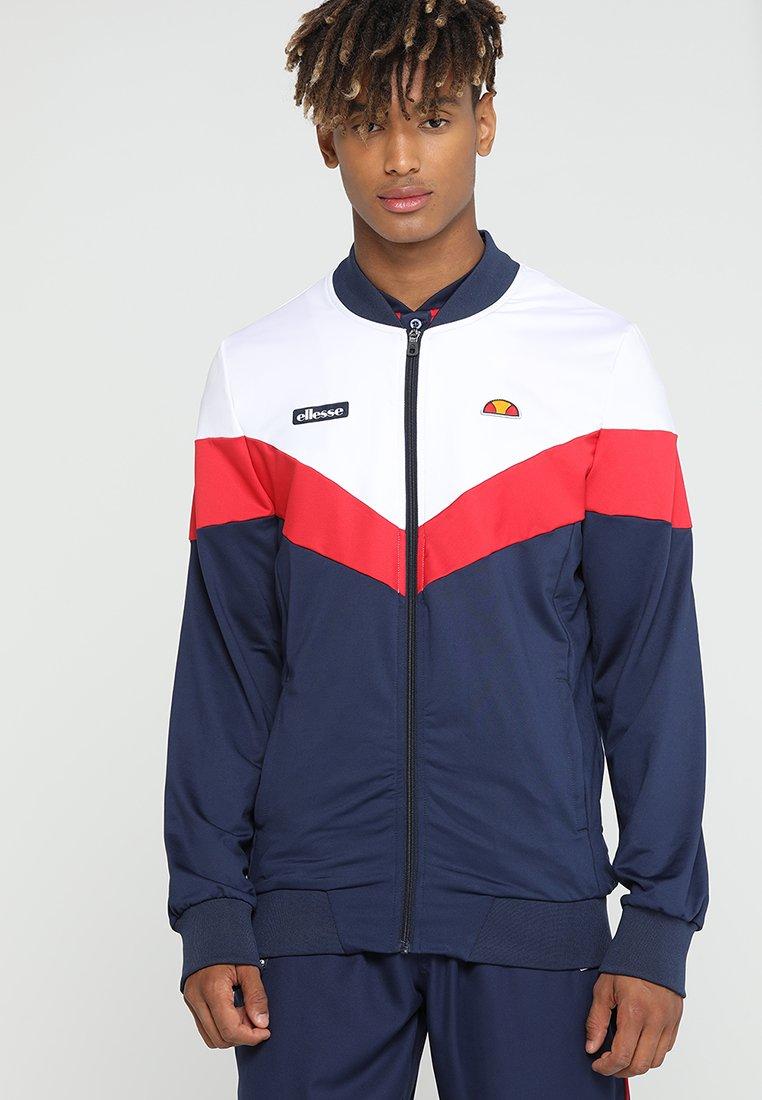 Ellesse - DISSARO - Training jacket - optic white/peacoat/true red
