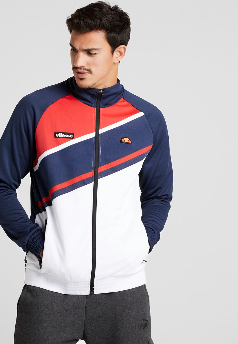 Ellesse - ABETO - Mikina na zip - navy/red/white