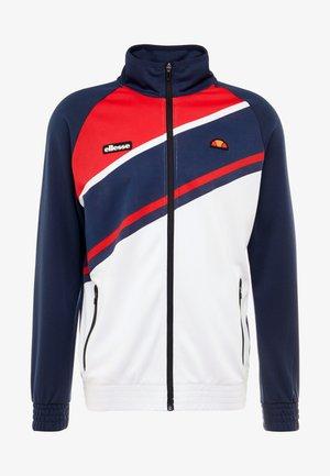 ABETO - Zip-up hoodie - navy/red/white