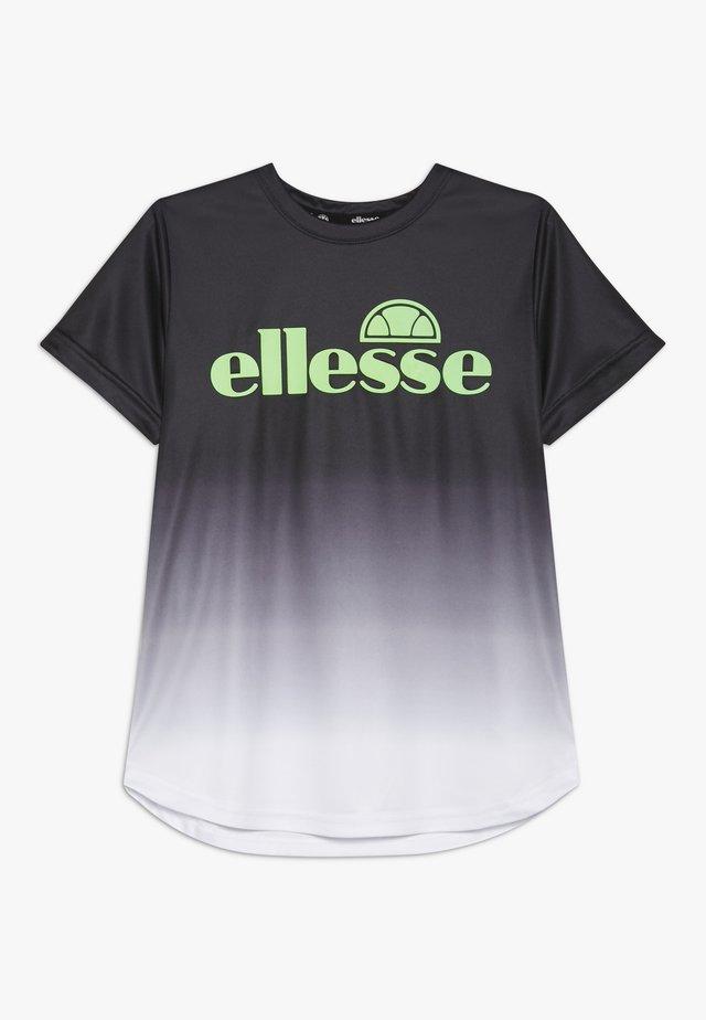 RUNATE - Print T-shirt - black
