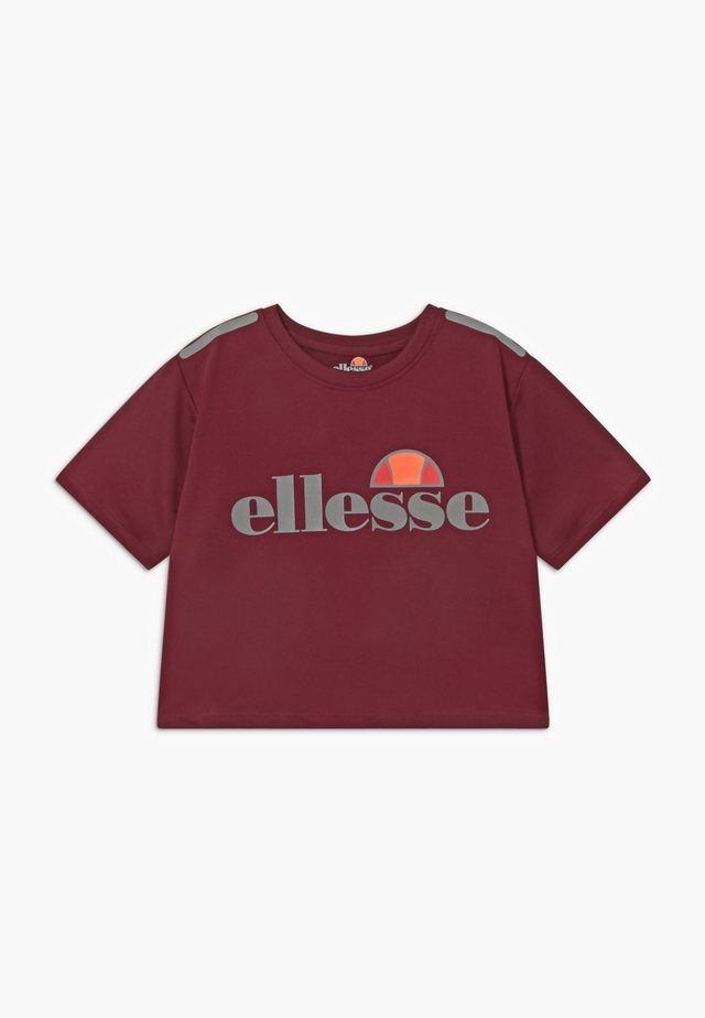 LISSARO CROPPED PERFORMANCE TEE - Print T-shirt - burgundy