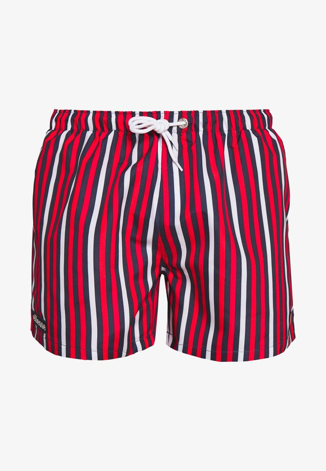 QUINO - Badeshorts - navy/red