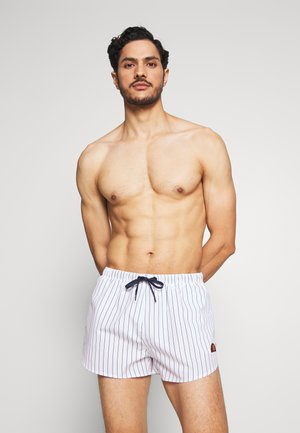 RUGOLO - Shorts da mare - white/navy