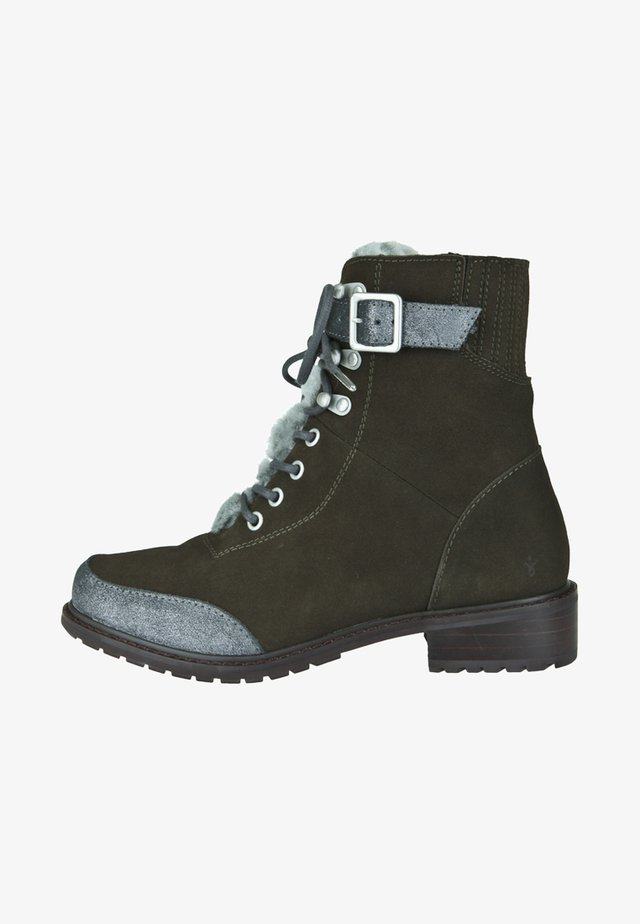 WALDRON - Lace-up ankle boots - dark olive