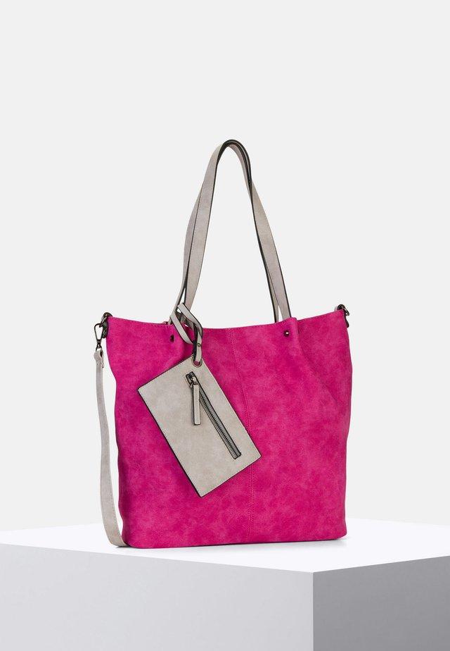 SURPRISE - Shopping Bag - pink grey