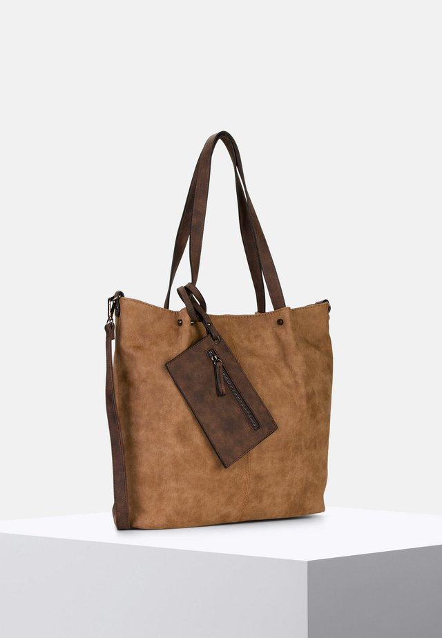 SURPRISE - Tote bag - cognac/brown