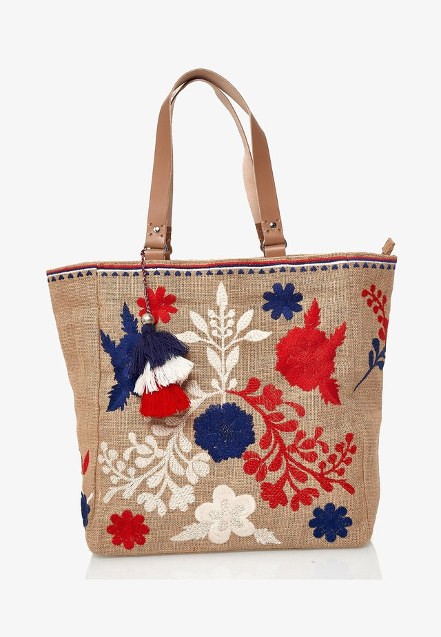 Tote bag - blue/red
