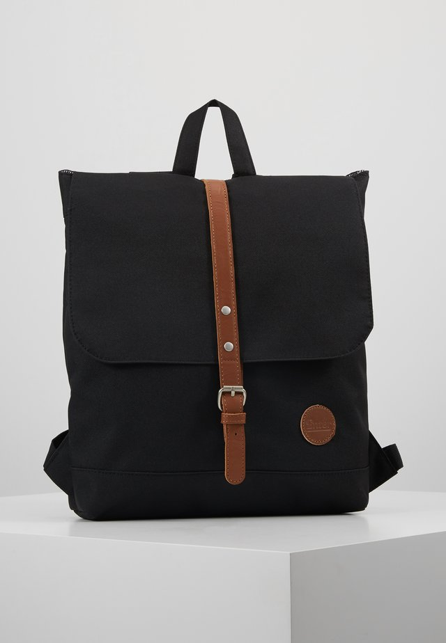 BACKPACK MINI ENVELOPE - Rucksack - black/tan