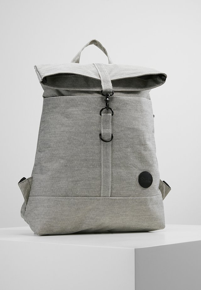 CITY FOLD TOP BACKPACK - Rucksack - melange black
