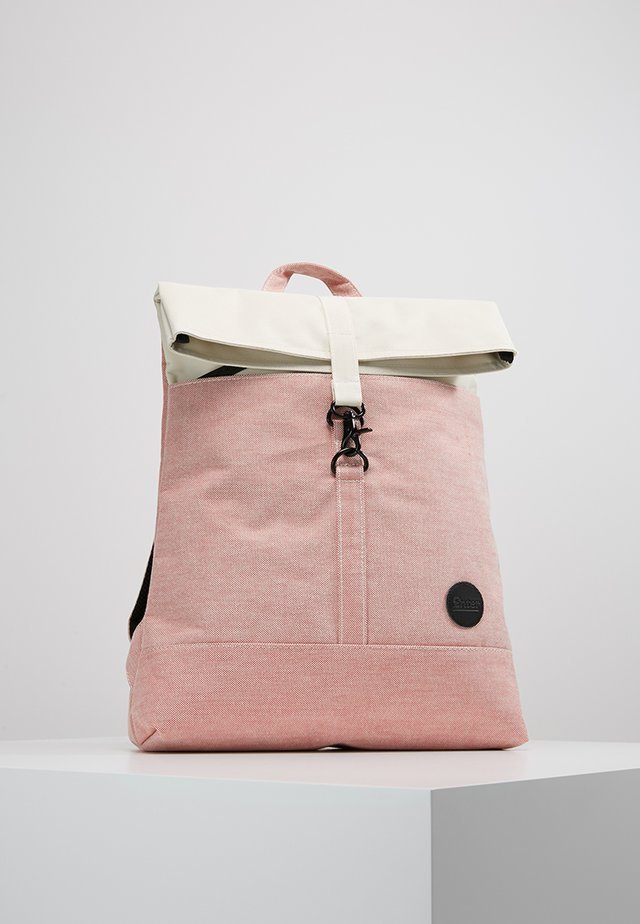 CITY FOLD TOP BACKPACK - Tagesrucksack - melange red/natural