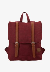 melange wine red/tan