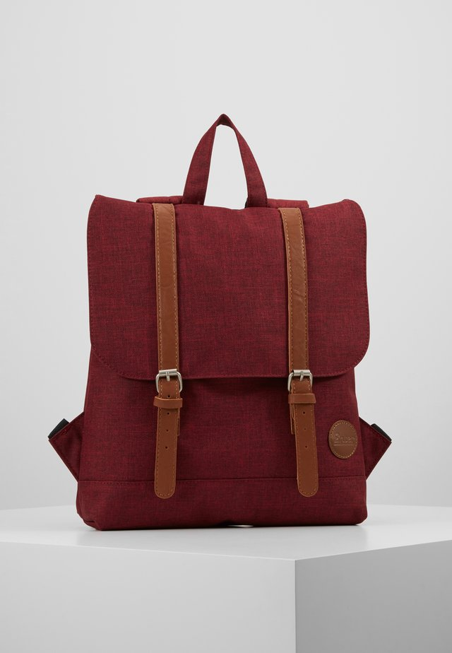 CITY BACKPACK MINI FRONT STRAPS - Tagesrucksack - melange wine red/tan