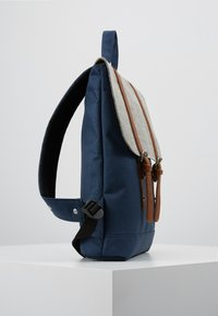 Enter - CITY BACKPACK MINI FRONT STRAPS - Tagesrucksack - navy/melange black/tan - 3