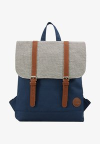 Enter - CITY BACKPACK MINI FRONT STRAPS - Tagesrucksack - navy/melange black/tan - 5