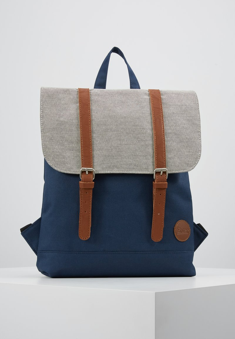 Enter - CITY BACKPACK MINI FRONT STRAPS - Rugzak - navy/melange black/tan